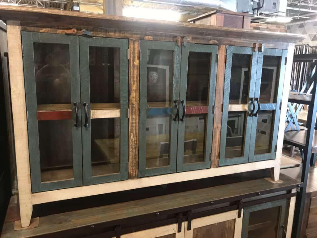 Large Multicolored glass console