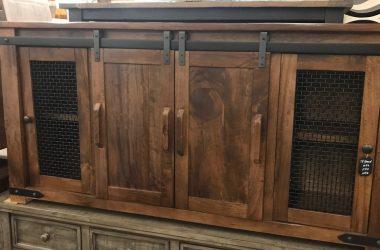Parota wood tv stand/buffet