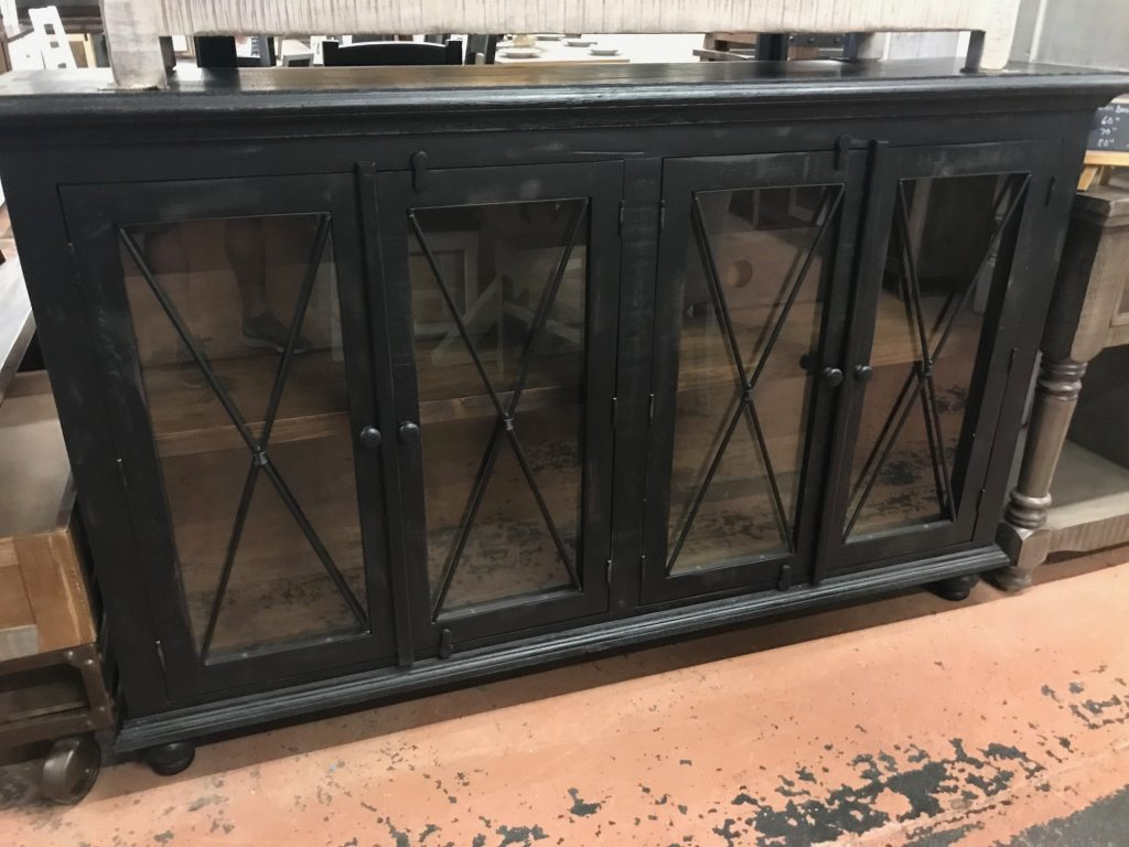 distressed-black-4-door-console